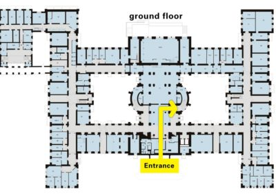 GUT, Map of Ground Floor, entrance
